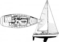 Tartan 35 ft 3500 Sloop 1998 YX0100000256